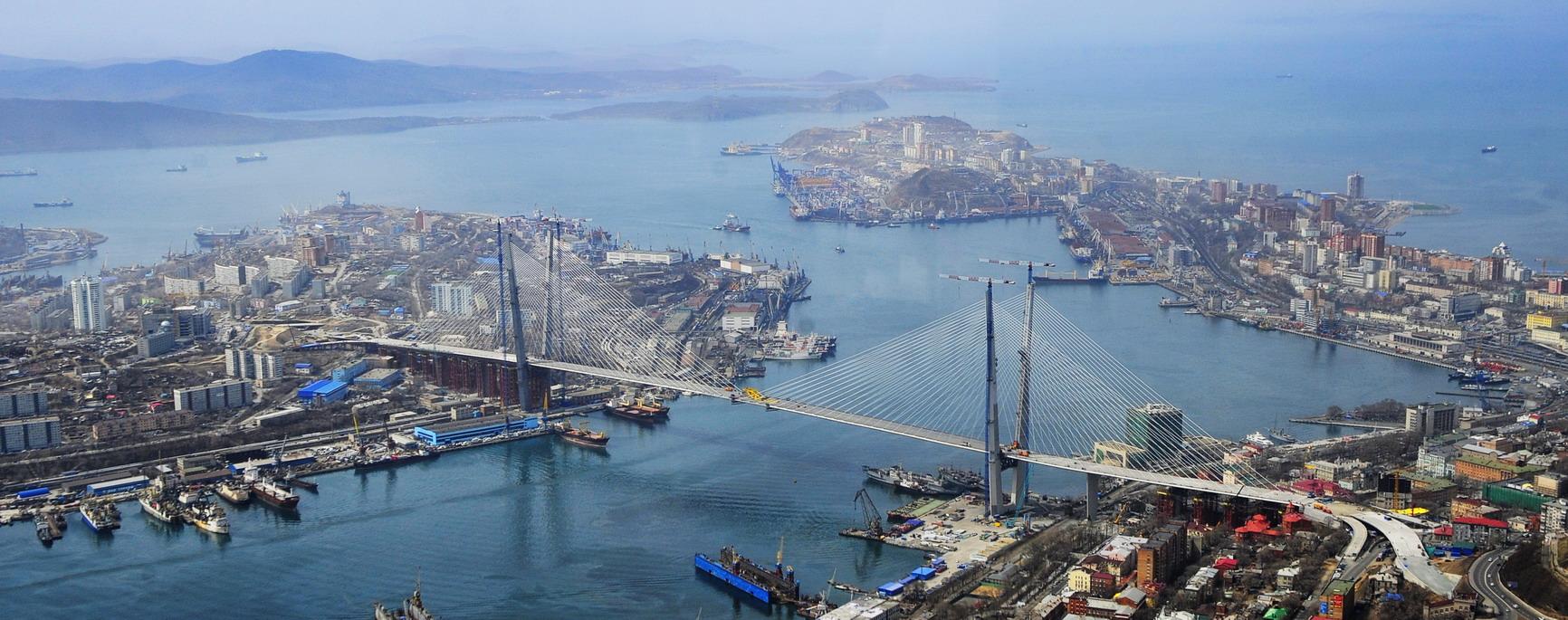 Порт Владивосток Общий вид